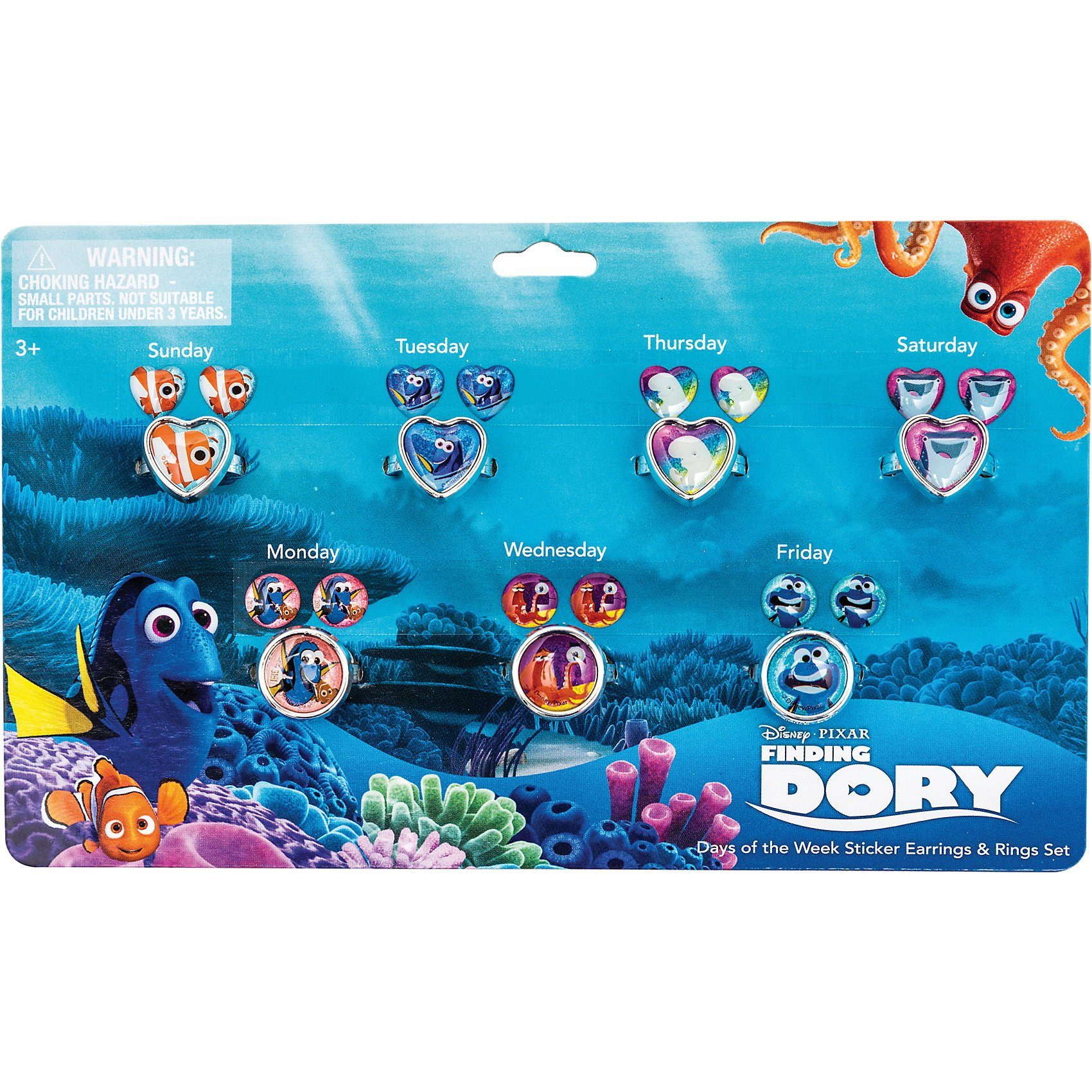 JOY TOY Sticker- Ohrringset Findet Dory